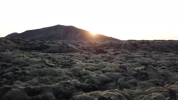 Thumbnail for Low Aerial Shot Of Moon Like Landscape In Iceland
