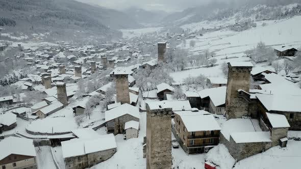 Thumbnail for Georgien im Winter Luftbild