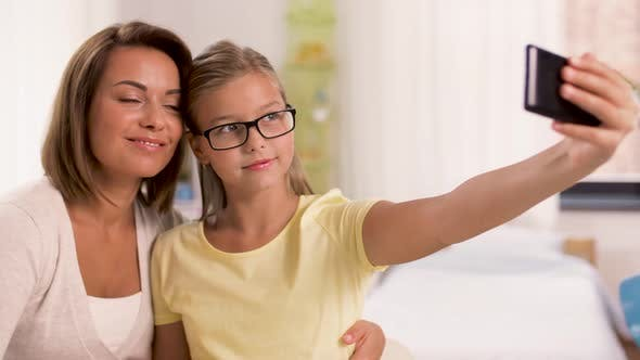 Thumbnail for Happy Family Taking Selfie By Smartphone at Home 19