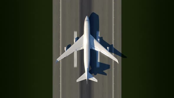 Thumbnail for Satellite View of Taking off Airplane