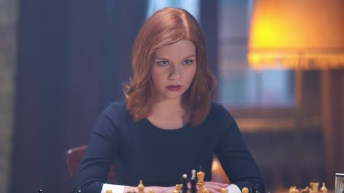 Lady Win Chess Game