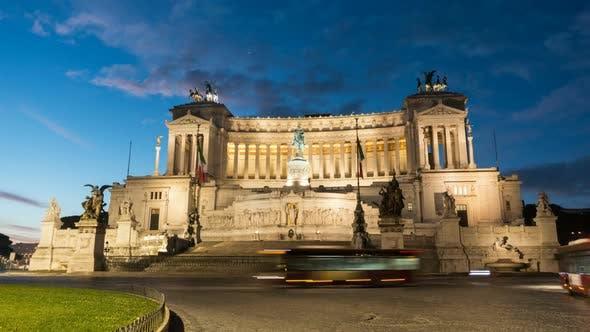 Thumbnail for Vittorio Emanuele II Monument Aka Altare Della Patria As Night Falls in Rome