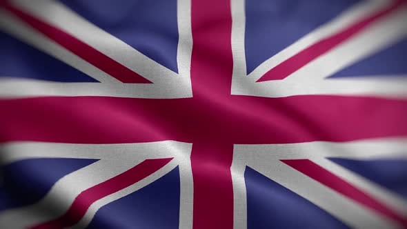 United Kingdom Flag Textured Waving Front Background HD