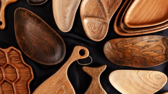 Thumbnail for Set of Cutting Boards on Wooden Background
