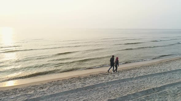 Thumbnail for Couple In Love In Beautiful Seaside Scenary
