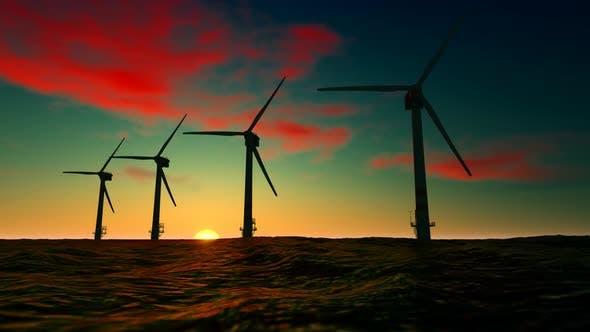 Thumbnail for Windmill on Ocean