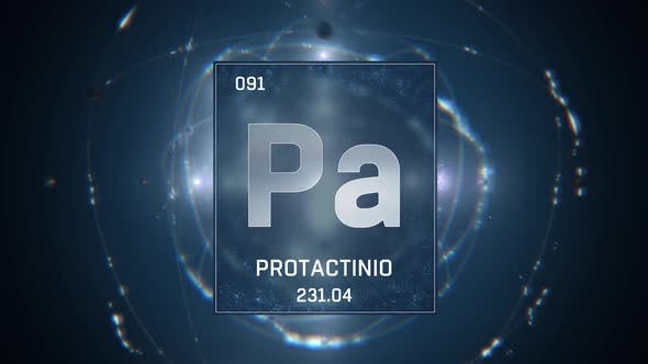 Thumbnail for Protactinium as Element 91 of the Periodic Table on Blue Background in Spanish Language