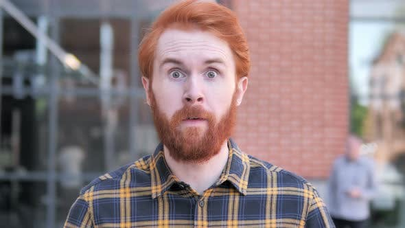 Thumbnail for Angry Redhead Beard Young Man Yelling Outdoor