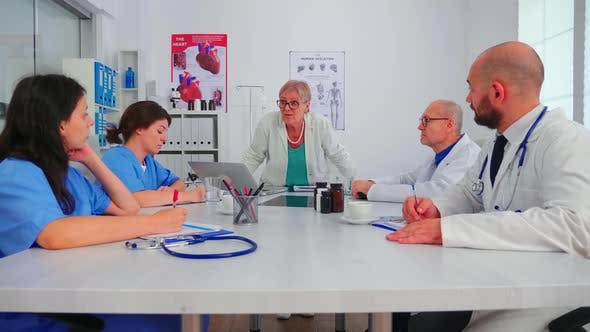 Thumbnail for Nurses Listening Medical Specialist During Briefing