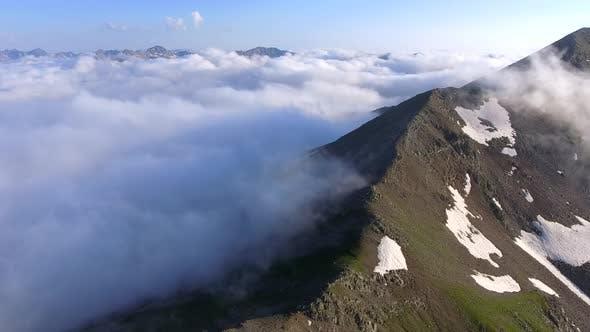 Thumbnail for Condensed Moist Air on Mountain Ridge