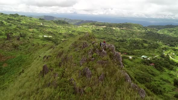 Thumbnail for Aerial view of peak Chocolate hills and cloudy sky in Badian, Philippines.
