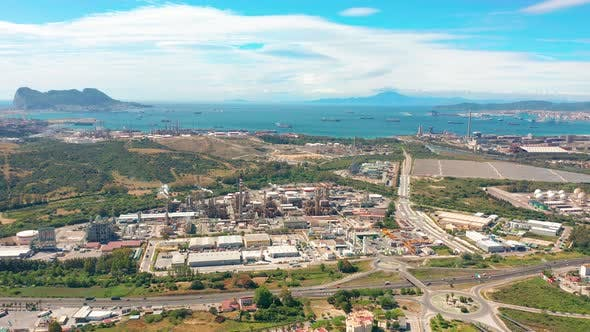Thumbnail for Aerial View. Gibraltar-San Roque Refinery, Southern Spain