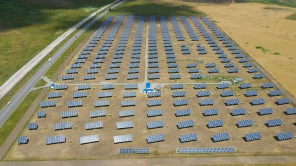 Thumbnail for Solar Panels Aerial View