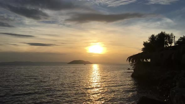 Sunset in Neos Marmaras