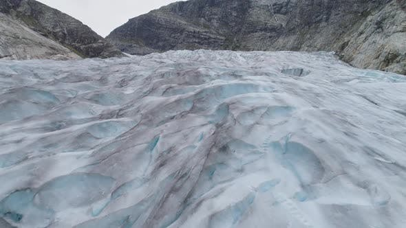 Thumbnail for Nigardsbreen Glacier Is Arm of Jostedalsbreen Glacier in Norway. Aerial View