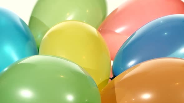 Thumbnail for Background with Lot of Multicolored Balloons, Rotation