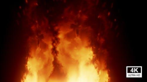 Huge Burning Fire 4K