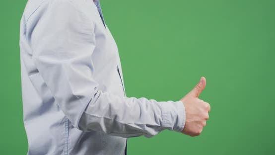 Thumbnail for Side view of a man counting his fingers