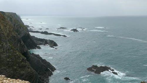 Rocky coast around Praia do Creleizao in Southwest Alentejo