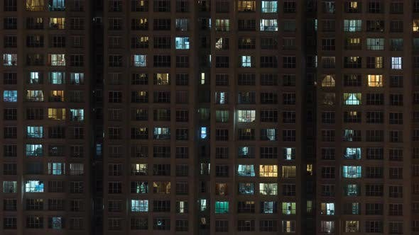 Thumbnail for Timelapse of High-rise Apartment Block at Night