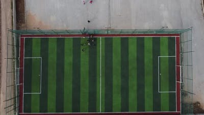 Aerial View of Children Astroturf