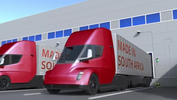 Thumbnail for Semi-trailer Trucks with MADE IN SOUTH AFRICA Text