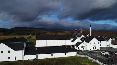 Zoom Out From a Distillery in Dalwhinnie