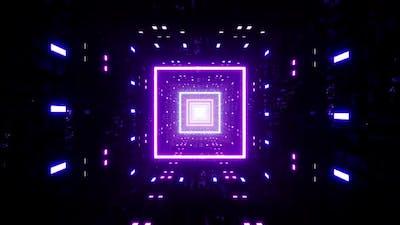 Neon Square Disco Light Tunnel