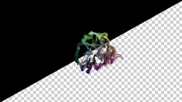 Thumbnail for Spiral Ink Particles In Water