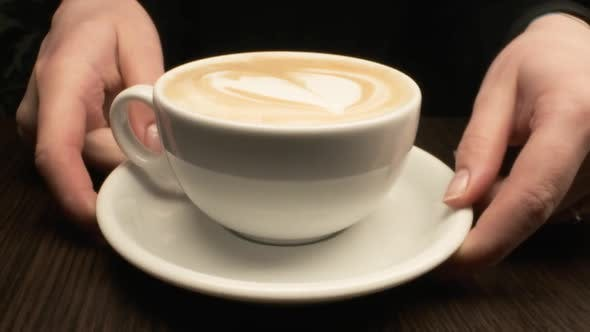 Thumbnail for Cappuccino Cup. Close-up.