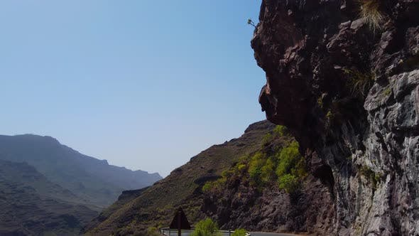Thumbnail for Beautiful Gran Canaria Valley from a Moving Car