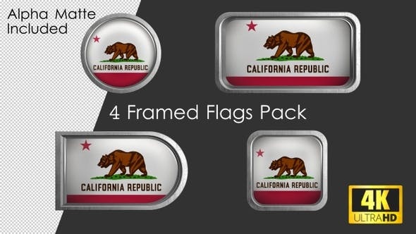 Thumbnail for California State Flag Framed