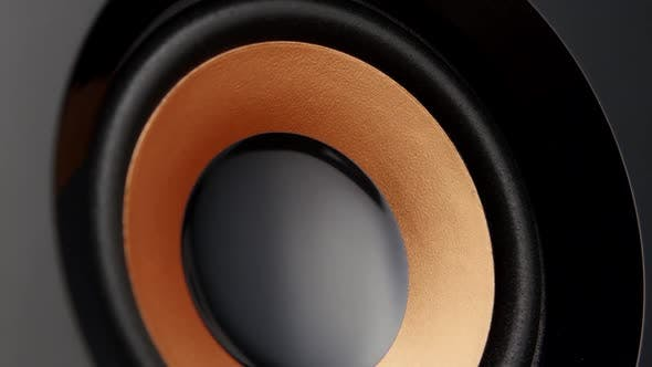 Thumbnail for Music System with Speakers. Closeup