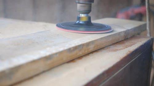 Nahaufnahme der Holzverarbeitung