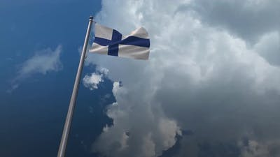 Finland Flag Waving 4K