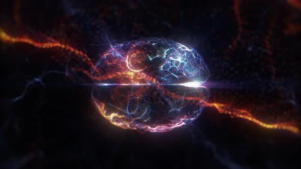 Thumbnail for Futuristic Brain Hologram Loop