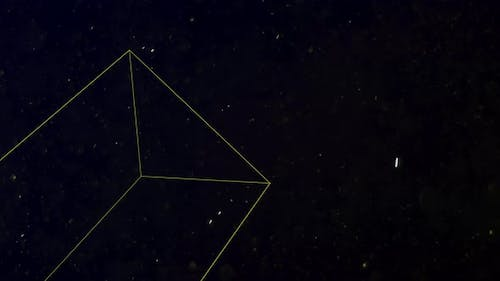 Geometric triangles with glitters in space