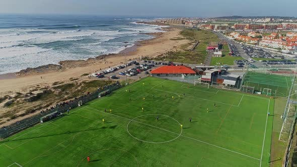 Thumbnail for Aerial View Of Football Match