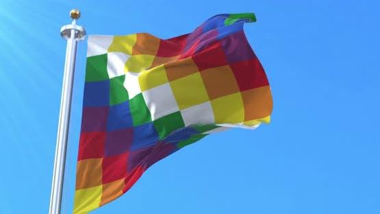 The Wiphala Flag Waving