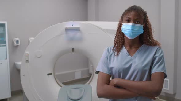 Thumbnail for African-American Female Radiologist Posing