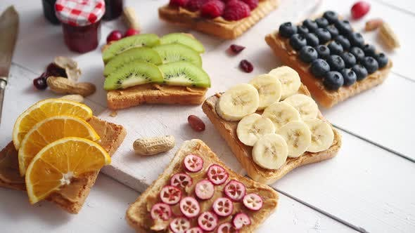 Thumbnail for Assortment of Healthy Fresh Breakfast Toasts