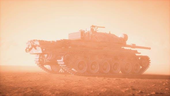Thumbnail for World War II Tank in Desert in Sand Storm