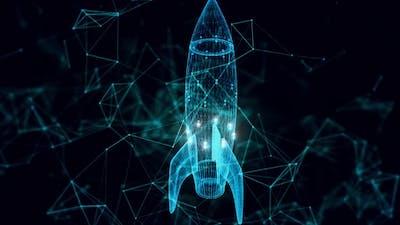 Rocket Hologram Close Up 4k