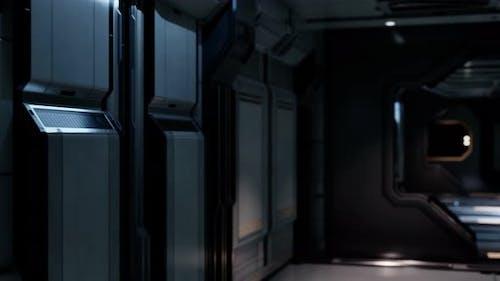 Saubere sterile futuristische Science Fiction Innenraum eines Labors oder Raumschiffs
