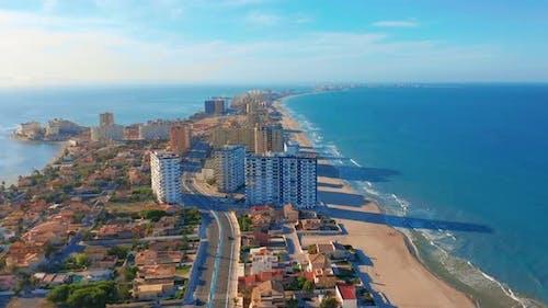 Aerial View. La Manga Peninsula Spain, Cartagena, Murcia