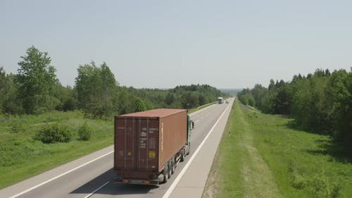 Trucking Lorry on the Road