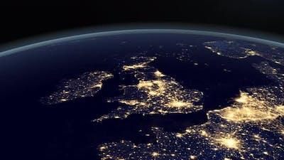 United Kingdom at Night