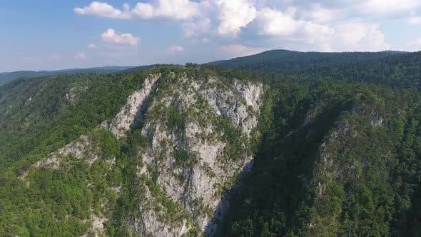 Aerial View Banjska Stena on Drina River, Serbia