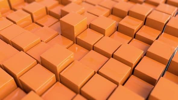 Thumbnail for Cubes Orange Background