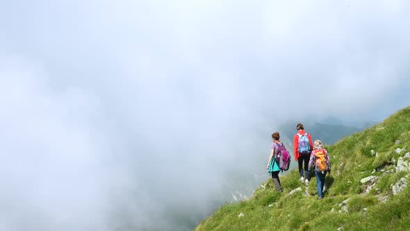 Thumbnail for Family Hiking At The Mountains